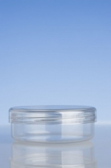 Clear Cosmetic Pot, Clear Lid, 125ml